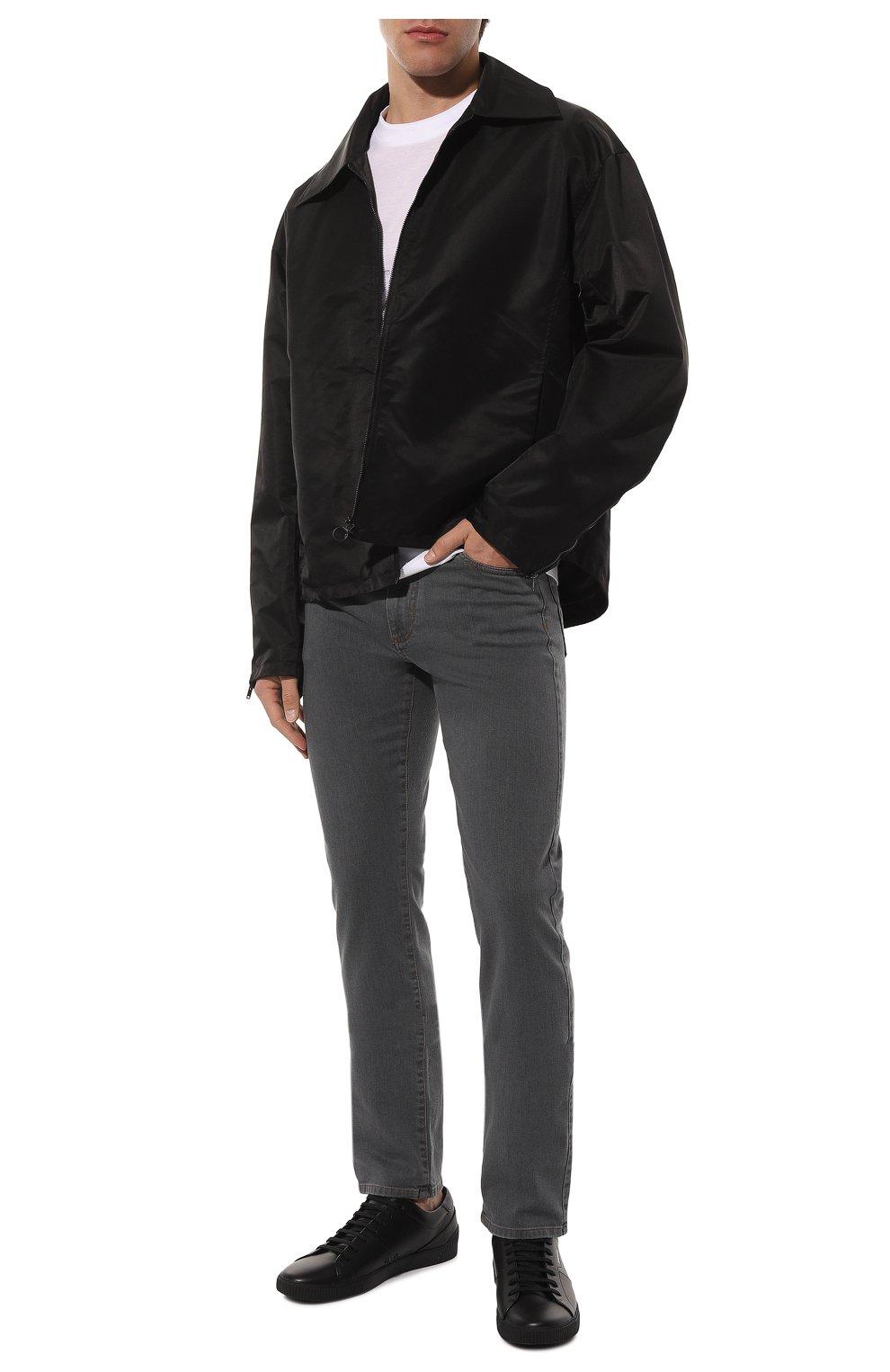Мужские джинсы CANALI серого цвета, арт. 91700/PD00018   Фото 2
