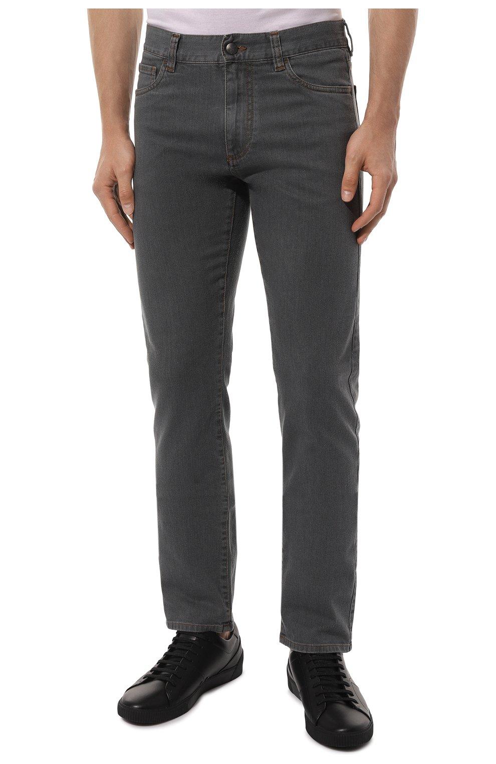 Мужские джинсы CANALI серого цвета, арт. 91700/PD00018   Фото 3