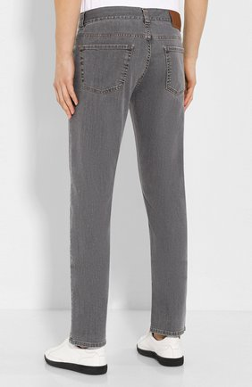 Мужские джинсы CANALI серого цвета, арт. 91700/PD00018   Фото 4