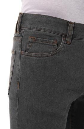Мужские джинсы CANALI серого цвета, арт. 91700/PD00018   Фото 5
