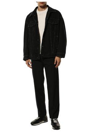 Мужские кожаные кроссовки HOGAN черного цвета, арт. HXM3830AN51LE9 | Фото 2