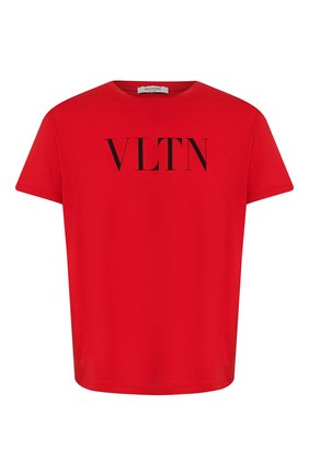 Мужская хлопковая футболка VALENTINO красного цвета, арт. TV3MG10V3LE | Фото 1