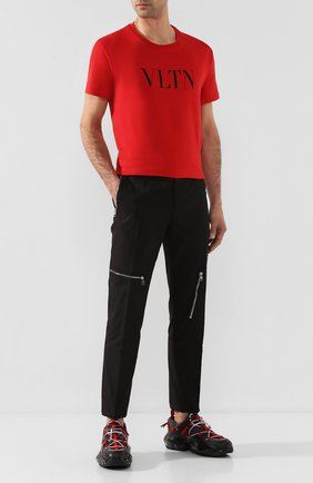 Мужская хлопковая футболка VALENTINO красного цвета, арт. TV3MG10V3LE | Фото 2