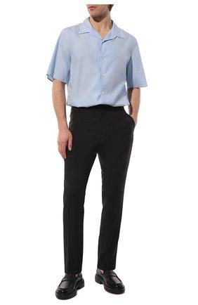 Мужской шерстяные брюки VALENTINO черного цвета, арт. TV3RB54025S | Фото 2