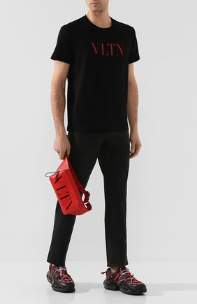 Кожаная поясная сумка Valentino Garavani VLTN | Фото №2