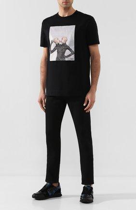 Мужская хлопковая футболка LIMITATO черного цвета, арт. THINK TWICE | Фото 2