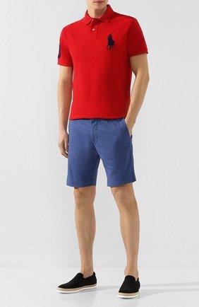 Мужское хлопковое поло POLO RALPH LAUREN красного цвета, арт. 710781433 | Фото 2