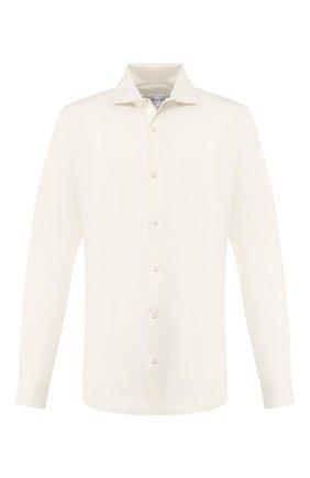 Мужская льняная рубашка ORLEBAR BROWN кремвого цвета, арт. 270222 | Фото 1