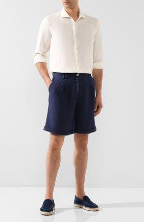 Мужская льняная рубашка ORLEBAR BROWN кремвого цвета, арт. 270222 | Фото 2