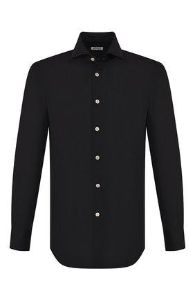 Мужская хлопковая рубашка KITON черного цвета, арт. UCIDCCP2/H0003107 | Фото 1