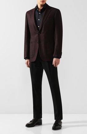 Мужская хлопковая рубашка KITON черного цвета, арт. UCIDCCP2/H0003107 | Фото 2