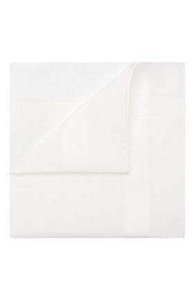 Мужской хлопковый платок SIMONNOT-GODARD белого цвета, арт. P0L0 | Фото 1