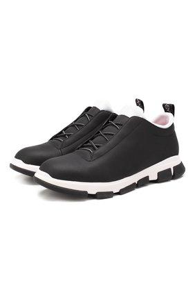 Мужские кожаные кроссовки SWIMS черно-белого цвета, арт. 21311 | Фото 1