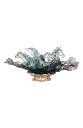Мужского ваза cavalcade DAUM голубого цвета, арт. 05592-3 | Фото 1