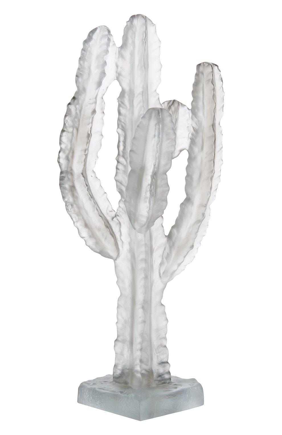 Мужского скульптура кактус DAUM прозрачного цвета, арт. 05672-1 | Фото 1