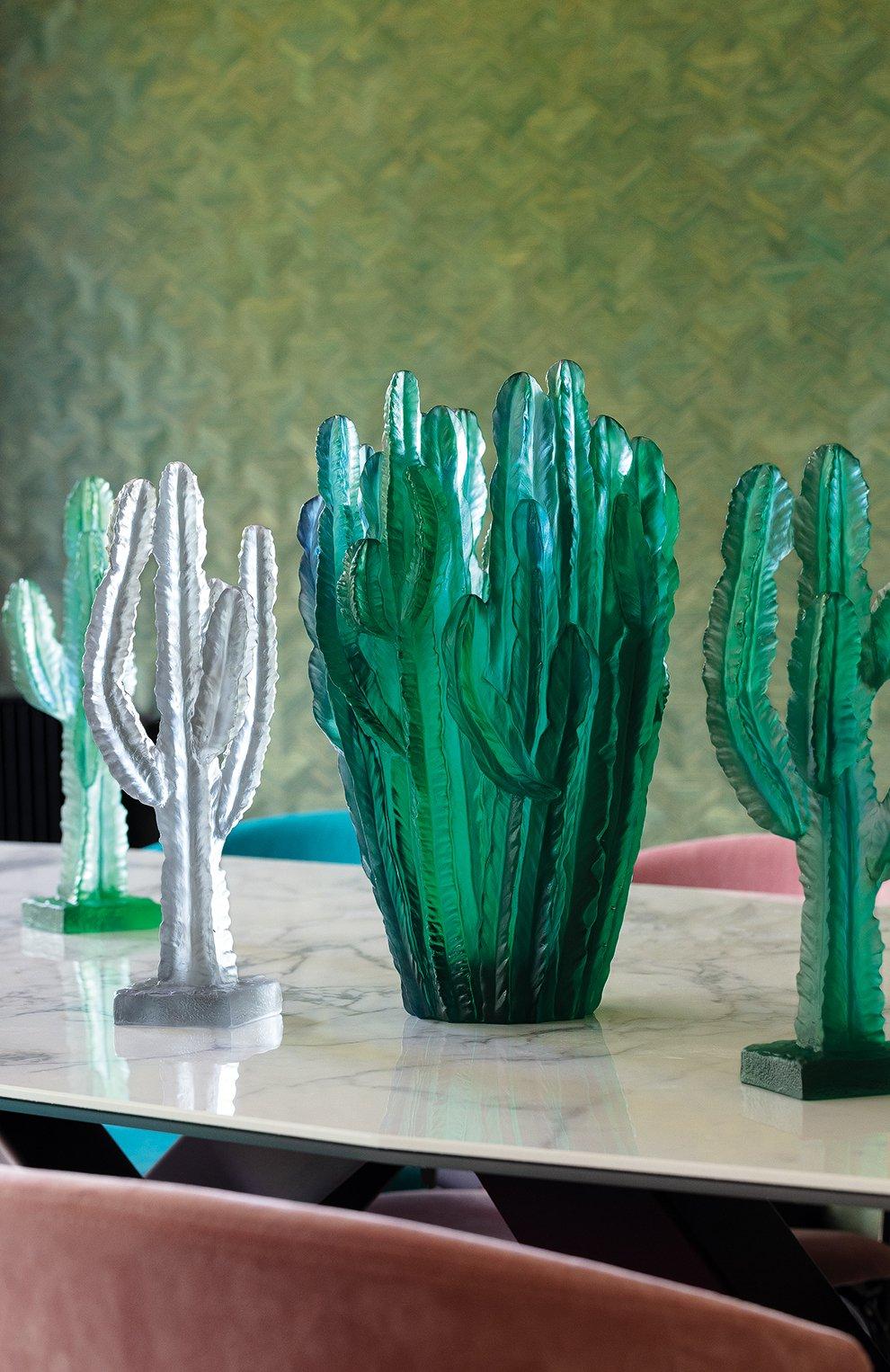Мужского скульптура кактус DAUM прозрачного цвета, арт. 05672-1 | Фото 2