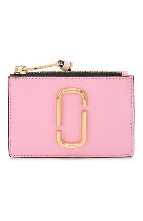 Женский кожаный футляр для кредитных карт MARC JACOBS (THE) светло-розового цвета, арт. M0013359 | Фото 1