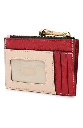 Женский кожаный футляр для кредитных карт MARC JACOBS (THE) светло-розового цвета, арт. M0013359 | Фото 2