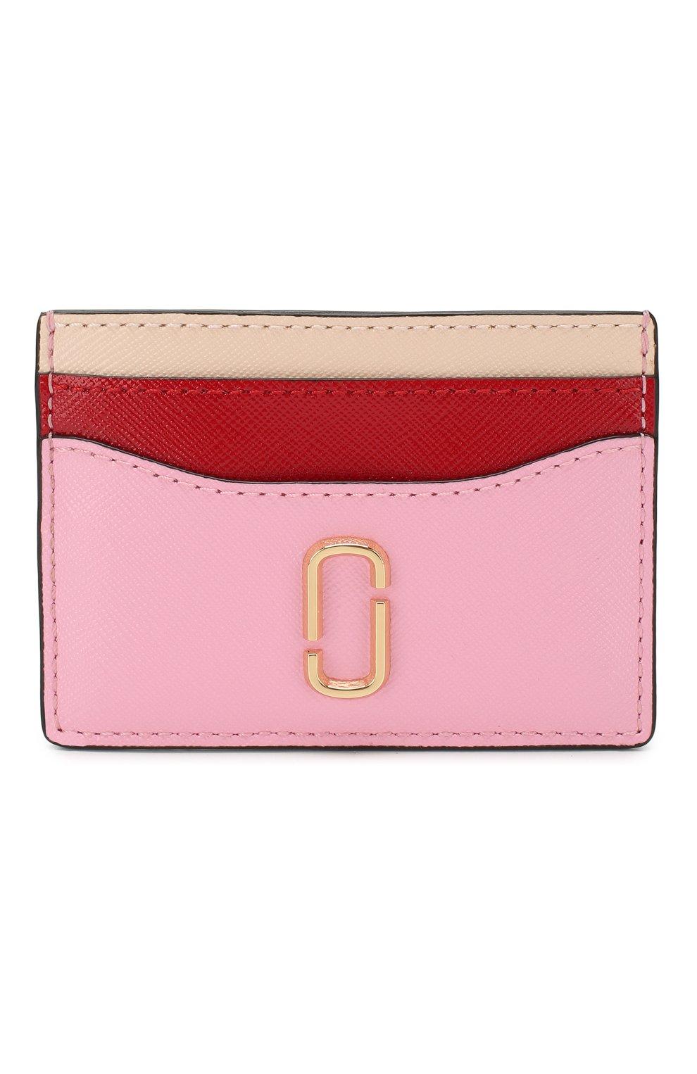 Женский кожаный футляр для кредитных карт MARC JACOBS (THE) светло-розового цвета, арт. M0013355   Фото 1