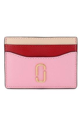 Женский кожаный футляр для кредитных карт MARC JACOBS (THE) светло-розового цвета, арт. M0013355 | Фото 1