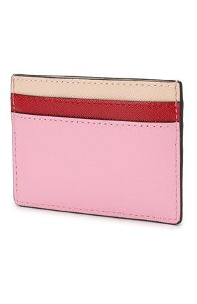 Женский кожаный футляр для кредитных карт MARC JACOBS (THE) светло-розового цвета, арт. M0013355 | Фото 2