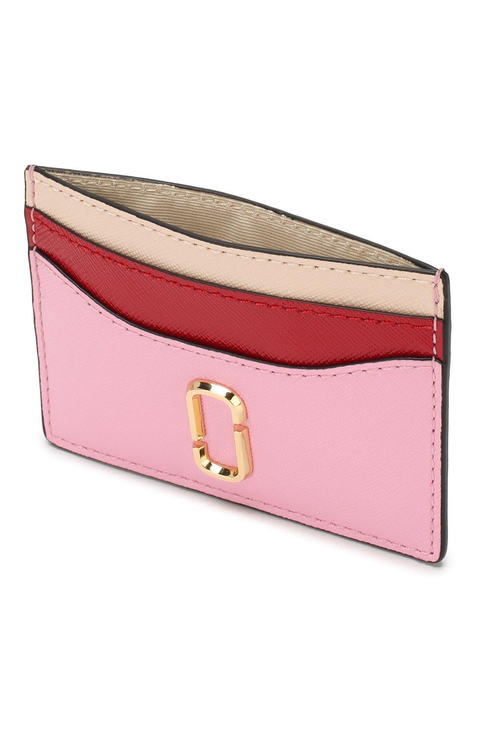 Женский кожаный футляр для кредитных карт MARC JACOBS (THE) светло-розового цвета, арт. M0013355   Фото 3