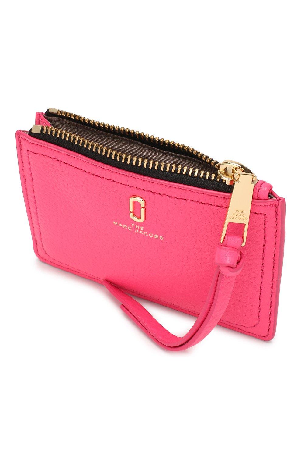 Женский кожаный футляр для кредитных карт MARC JACOBS (THE) розового цвета, арт. M0015123 | Фото 3