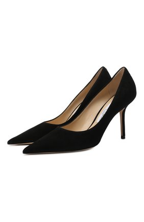 Женская замшевые туфли love 85 JIMMY CHOO черного цвета, арт. L0VE 85/BWJ | Фото 1