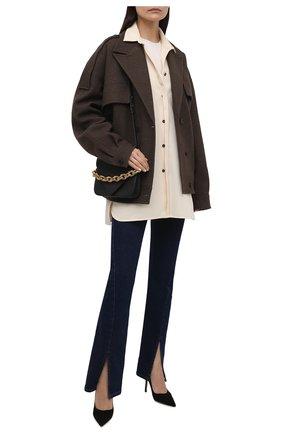 Женская замшевые туфли love 85 JIMMY CHOO черного цвета, арт. L0VE 85/BWJ | Фото 2
