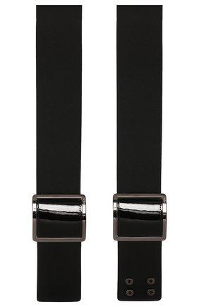 Женский кожаный пояс GIORGIO ARMANI черного цвета, арт. Y1I192/YSZ7I | Фото 2 (Материал: Кожа; Кросс-КТ: Широкие)
