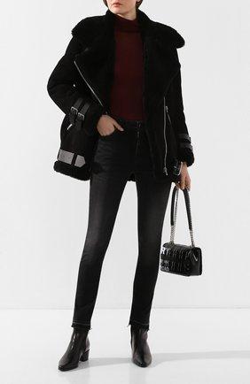 Женские кожаные ботинки reno PIERRE HARDY черного цвета, арт. QE01F/CALF-LINING RABBIT | Фото 2