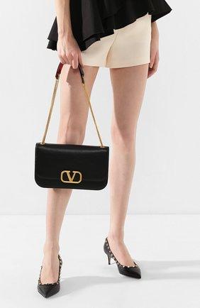 Женская сумка valentino garavani vlock medium VALENTINO черного цвета, арт. TW2B0F22/PAM | Фото 2