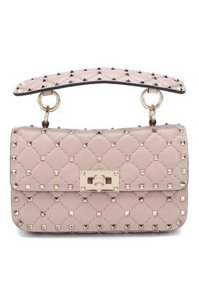 Женская сумка valentino garavani rockstud spike small VALENTINO бежевого цвета, арт. TW2B0123/NAP | Фото 1