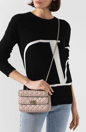 Женская сумка valentino garavani rockstud spike small VALENTINO бежевого цвета, арт. TW2B0123/NAP | Фото 2