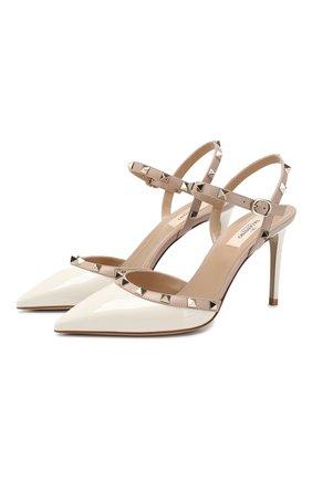 Женская кожаные туфли valentino garavani rockstud VALENTINO белого цвета, арт. TW2S0S98/VNW | Фото 1