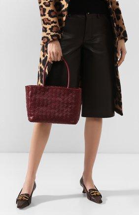 Женская сумка-тоут BOTTEGA VENETA бордового цвета, арт. 600887/VCPP1 | Фото 2