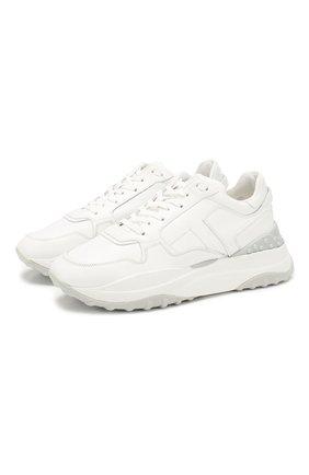 Женские кожаные кроссовки TOD'S белого цвета, арт. XXW45B0BB50JUS | Фото 1