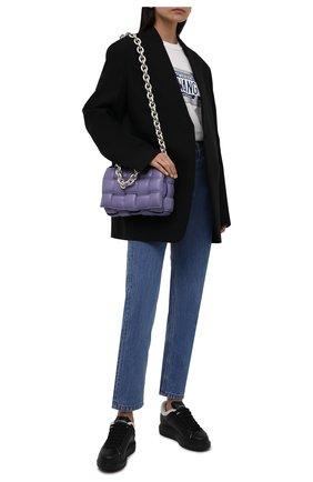 Женские кожаные кеды xl sole ALEXANDER MCQUEEN черного цвета, арт. 609650/WHVJX | Фото 2 (Подошва: Платформа; Материал утеплителя: Натуральный мех)