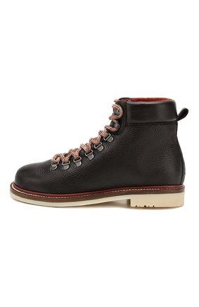 Женские кожаные ботинки lady laax walk LORO PIANA коричневого цвета, арт. FAI8576   Фото 3