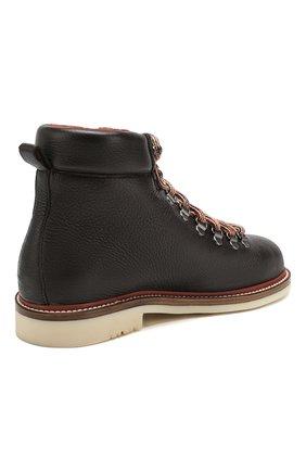 Женские кожаные ботинки lady laax walk LORO PIANA коричневого цвета, арт. FAI8576   Фото 4