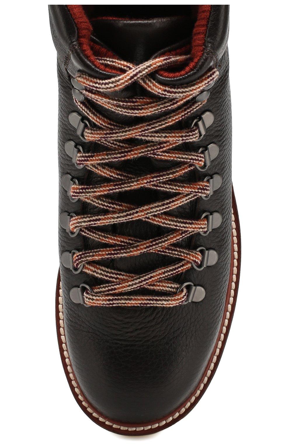 Женские кожаные ботинки lady laax walk LORO PIANA коричневого цвета, арт. FAI8576   Фото 5