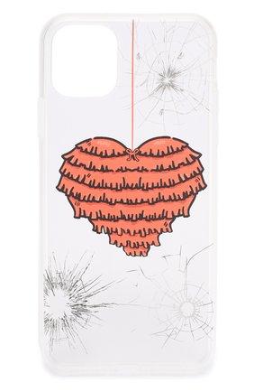 Мужской чехол для iphone 11 pro max MISHRABOO прозрачного цвета, арт. Heart 11 Pro Max   Фото 1