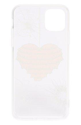 Мужской чехол для iphone 11 pro max MISHRABOO прозрачного цвета, арт. Heart 11 Pro Max   Фото 2