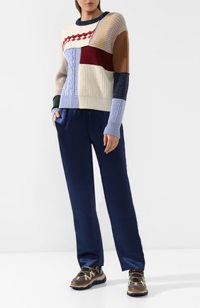 Женские брюки RAG&BONE синего цвета, арт. WAW19H7012M312 | Фото 2