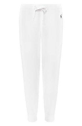 Женские хлопковые джоггеры POLO RALPH LAUREN белого цвета, арт. 211794397 | Фото 1