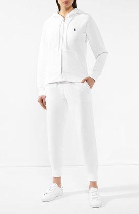 Женские хлопковые джоггеры POLO RALPH LAUREN белого цвета, арт. 211794397 | Фото 2