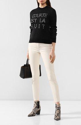 Женские кожаные брюки POLO RALPH LAUREN белого цвета, арт. 211765887 | Фото 2