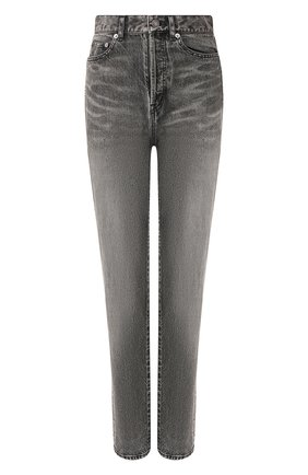 Женские джинсы SAINT LAURENT темно-серого цвета, арт. 596954/Y8990 | Фото 1