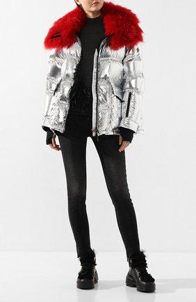 Женский куртка 3 moncler grenoble MONCLER GRENOBLE серебряного цвета, арт. E2-098-46803-15-C0283 | Фото 2