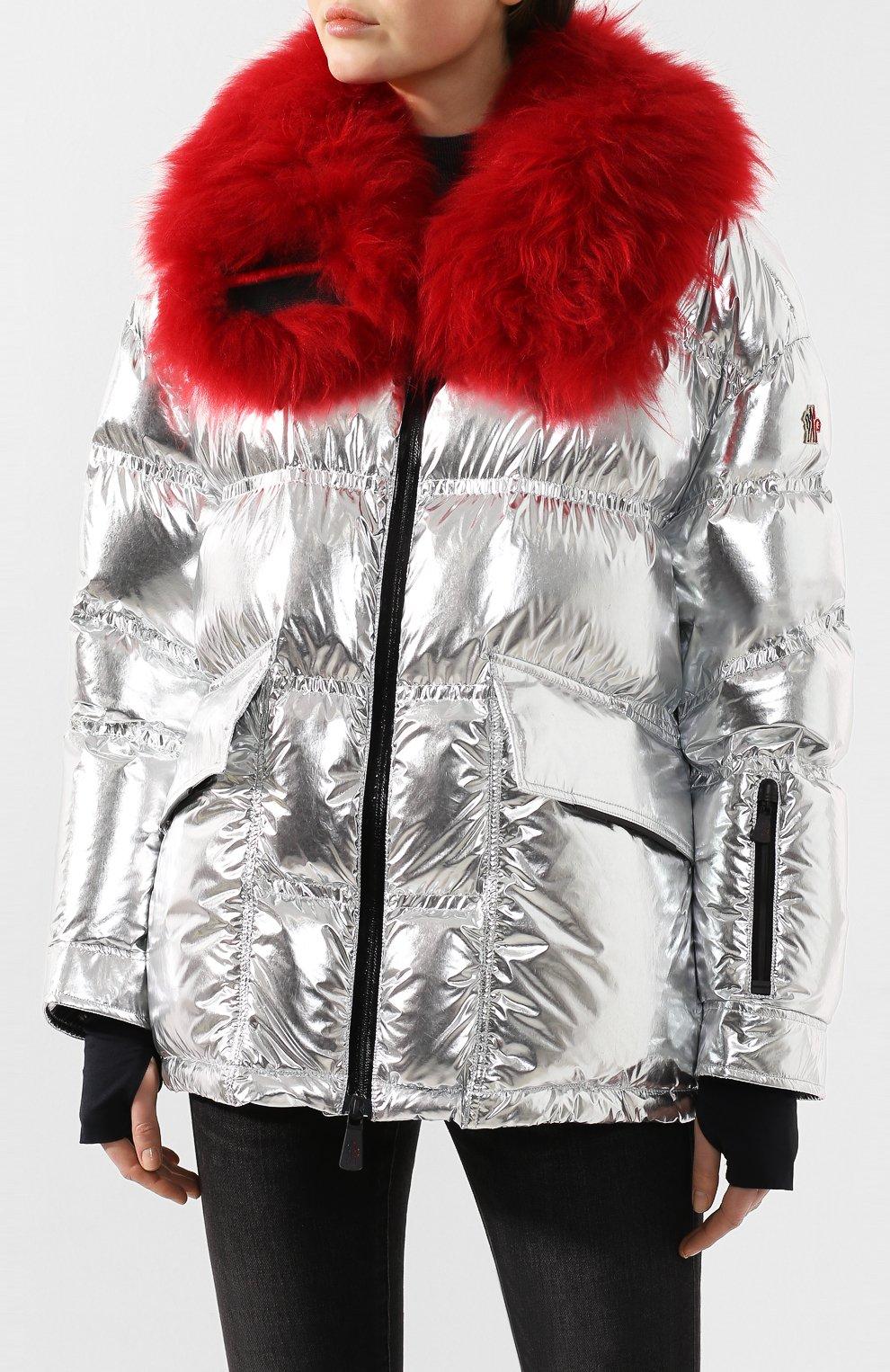 Женский куртка 3 moncler grenoble MONCLER GRENOBLE серебряного цвета, арт. E2-098-46803-15-C0283 | Фото 3